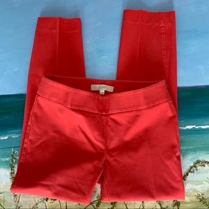 LOFT Women's Coral Crop Pants Size 2